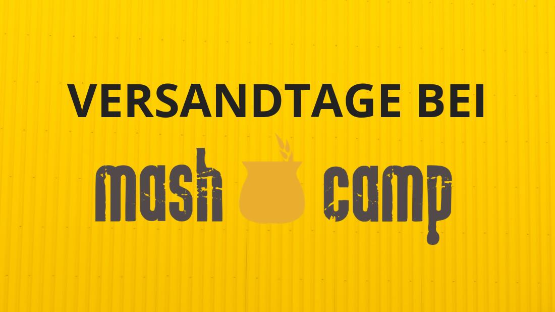 MashCamp Versandtage Weihnachten