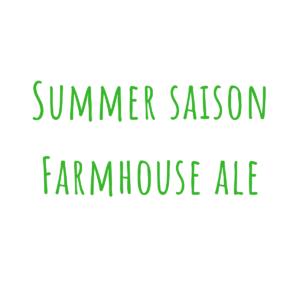 Bierrezept Summer Saison Farmhouse Ale