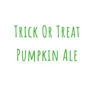 Bierrezept Trick or Treat Pumpkin Ale