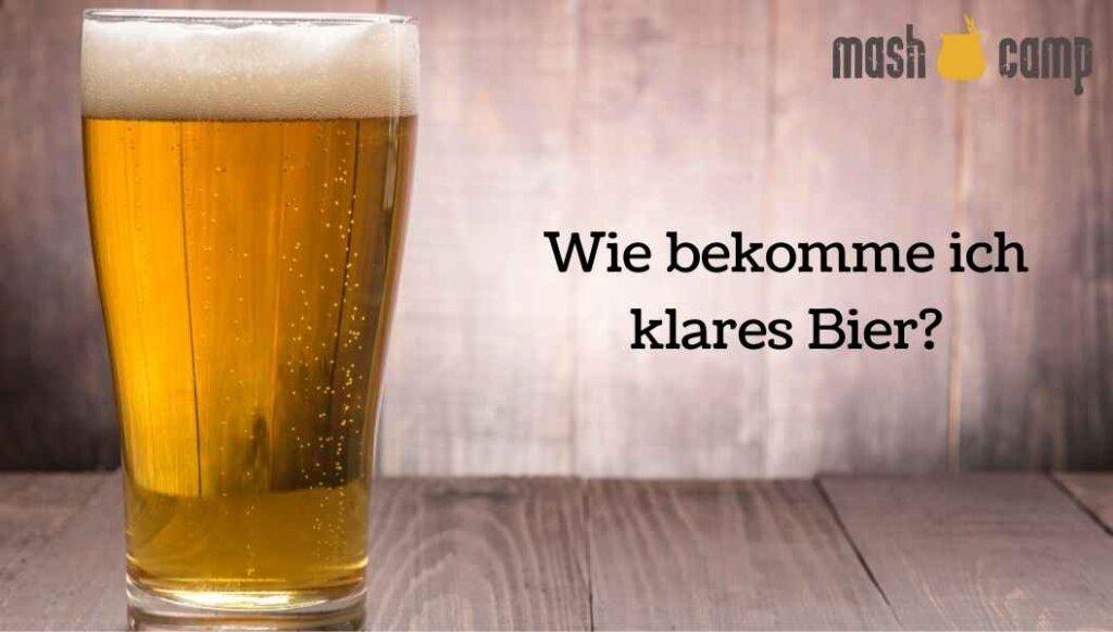 Wie bekomme ich klares Bier